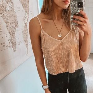 Rose Gold SO Sparkly Crop Top